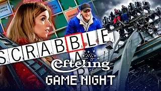 SCRABBLE IN BARON 1898 met Dionne, Milan, Joost en Link | Efteling Game Night #9