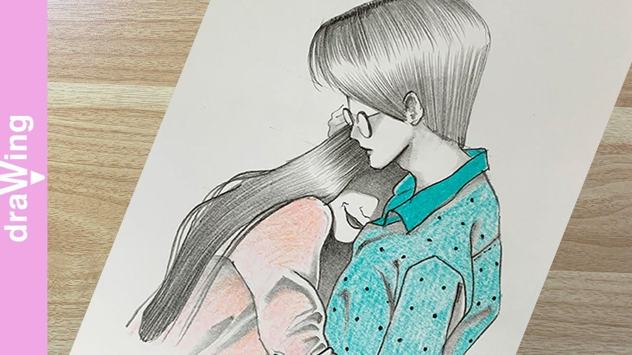how to draw lovely couple / 다정한 커플 그리는 방법