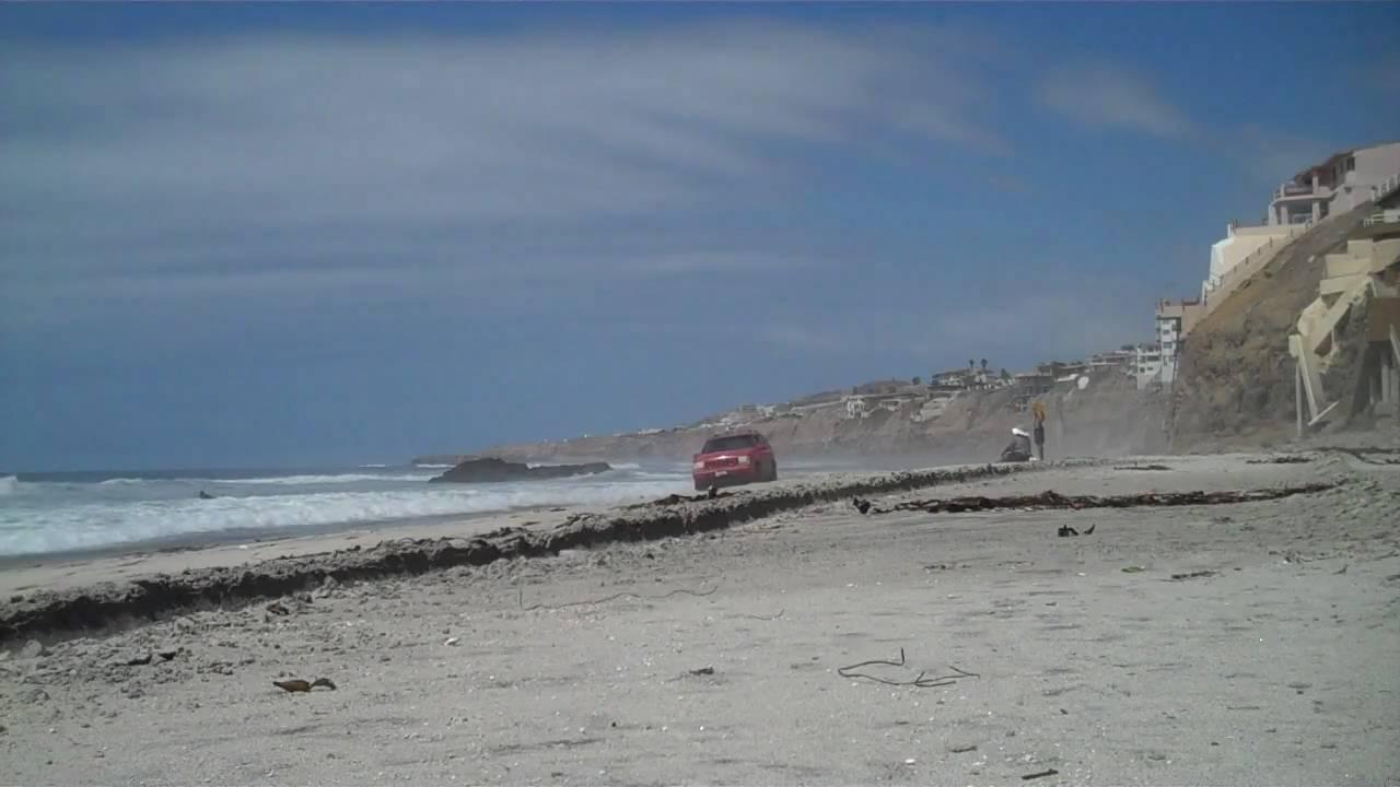 Jeep Zj Surfing The San Antonio Beach Del Mar Baja