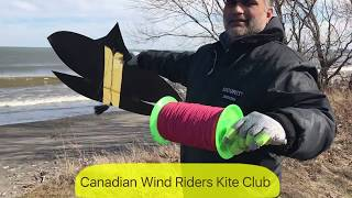 Patang Bazi in Canada ( Pipa Combate) Kite fighting in wind speed 55 Kmh paich a  February 25, 2018