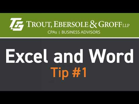 Excel & Word Tip #1: Changing the Start Up Screen Options