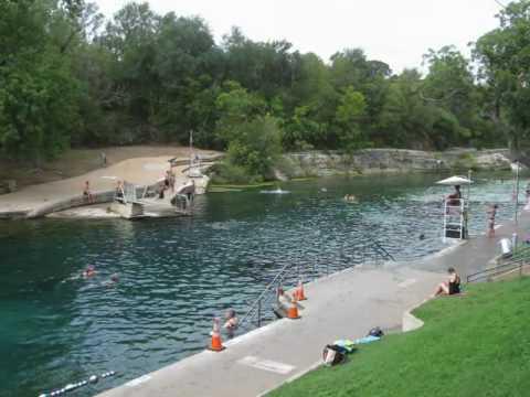 Barton Springs Pool Natural Pool Austin Texas Youtube