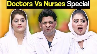 Khabardar Aftab Iqbal 25 February 2018 - Doctor vs Nurses Special - Express News