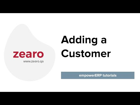 How to add a Customer in EmpowerERP