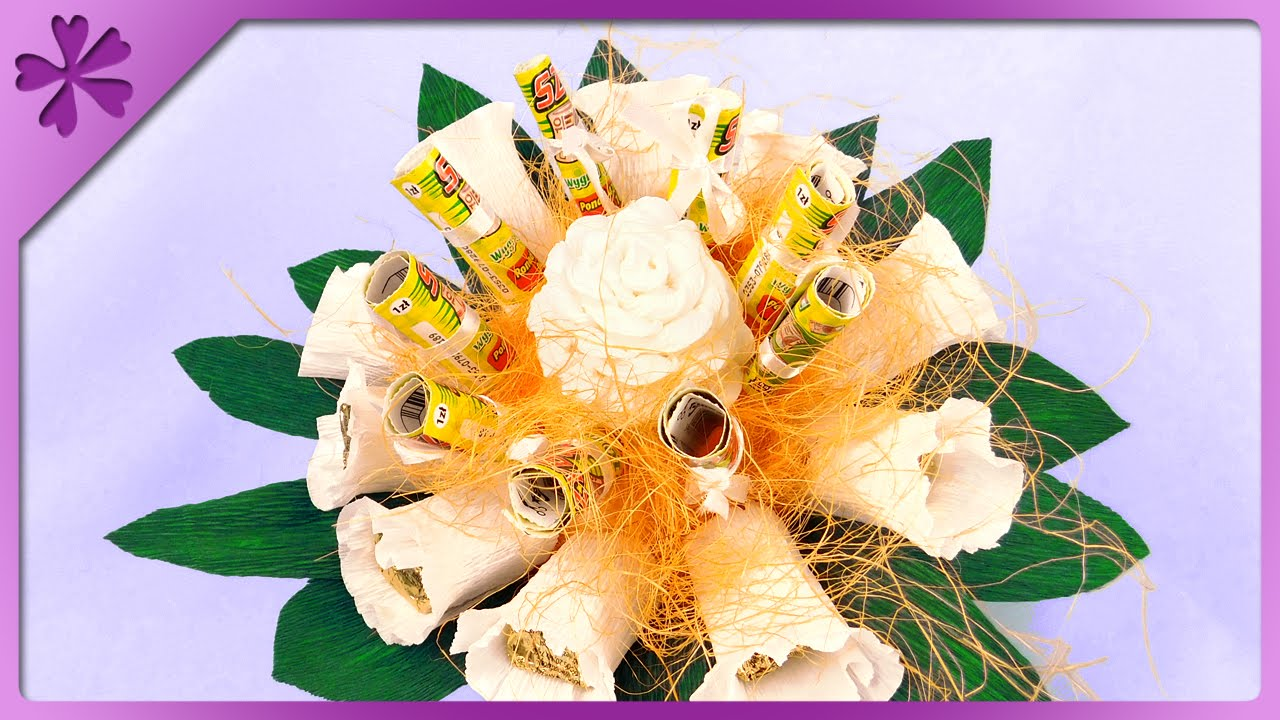 Nietypowy Okaz DIY Scratchcard, candy bouquet for wedding (ENG Subtitles) - Speed GR54