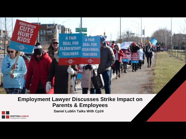 ETFO strike's effect on parents and employees - CP24 with Dan Lublin