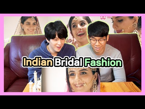Koreans Mesmerized by Indian Bride😍 | 100 Years Of Indian Bridal Fashion Reaction by Korean Dost