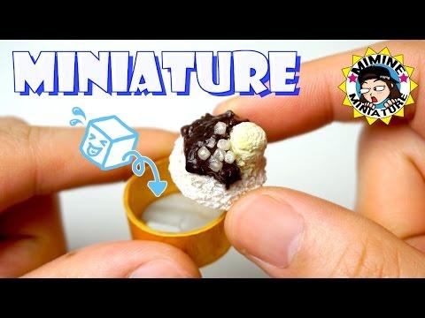 미니어쳐 진짜 얼음 갈리는 빙수기 만들기 Miniature - Snow Cone Machine 미미네미니어쳐 ミミネミニチュア