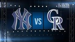 6/14/16: Story, Gonzalez help Rockies outlast Yankees