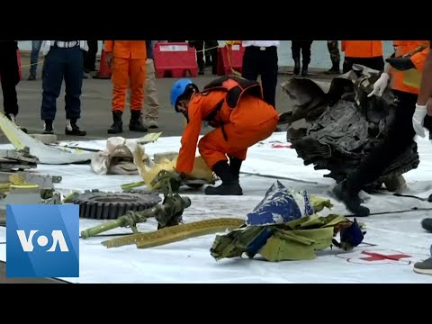 Debris Recovered from Crashed Indonesian Plane