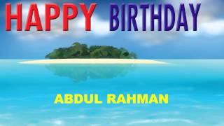 AbdulRahman   Card Tarjeta - Happy Birthday