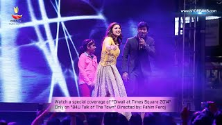 "Shaan & Parineeti Chopra singing live ""Tanha Dil Tanha Safar"" at Diwali at Times Square"