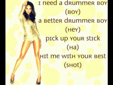 Alesha dixon - Drummer boy (Lyrics on screen) NEW SINGLE 2010