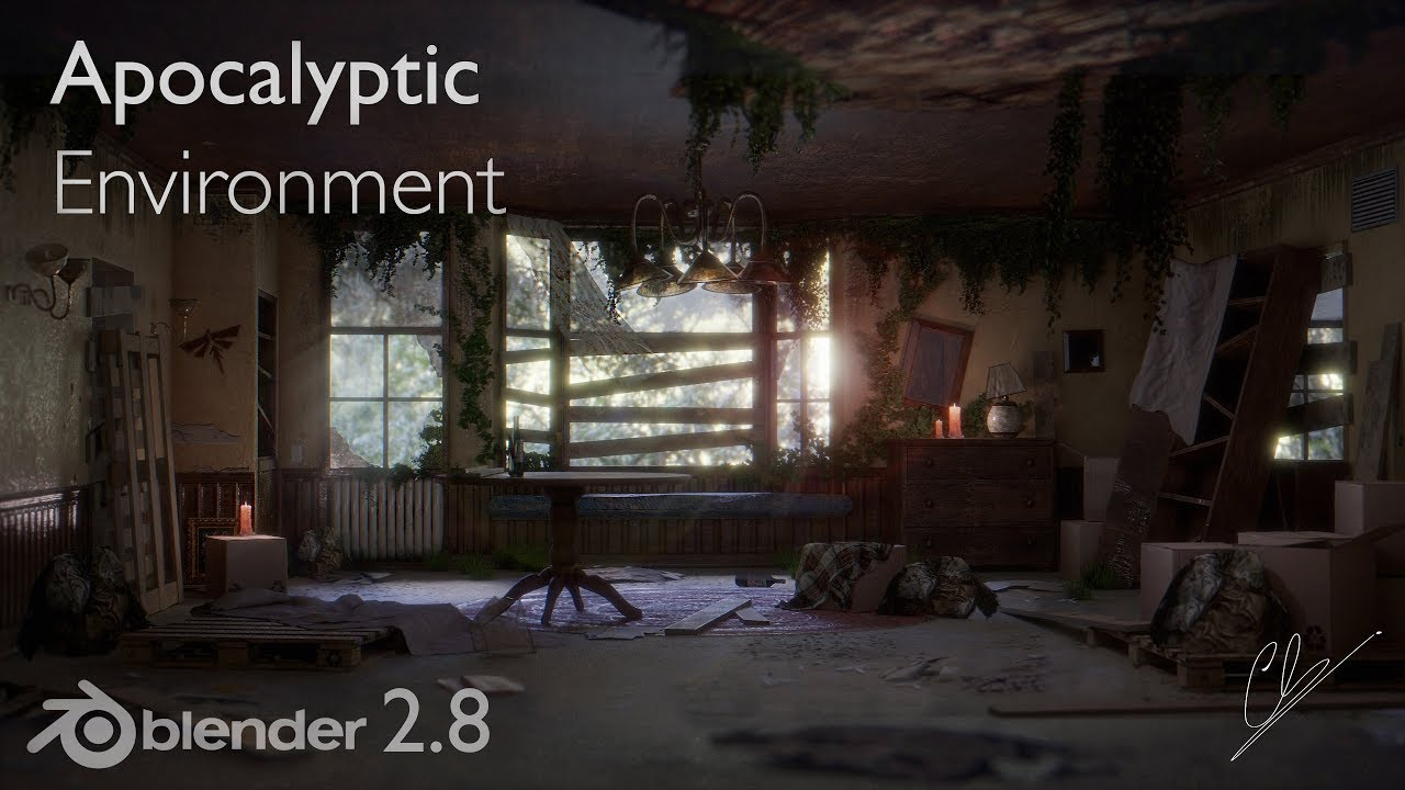 Creation of an Apocalyptic Environment in Blender 2.8