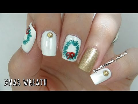 Day 10 christmas wreath nail art youtube day 10 christmas wreath nail art prinsesfo Image collections
