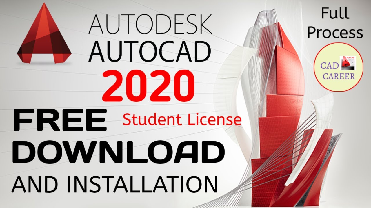 AUTOCAD 2020 FREE DOWNLOAD AND INSTALLATION FULL PROCESS | CAD CAREER