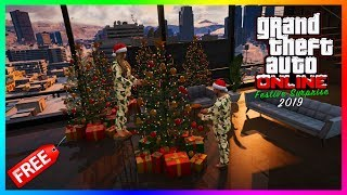 GTA 5 Online Festive Surprise 2019 Christmas DLC Update - FREE GIFTS! NEW Vehicles, Rewards & MORE!