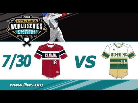 2018 Intermediate World Series Game 6: Asia-Pacific vs Canada