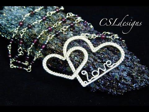 Double heart wirework pendant | Valentine's Day