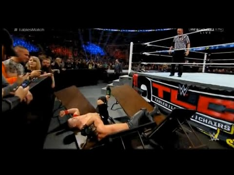 WWE TLC 2014: John Cena Vs Seth Rollins Tables Match Full Match ...