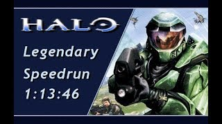 Halo: CE Legendary Speedrun in 1:13:46