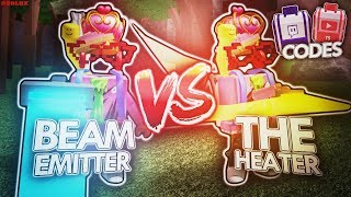 THE HEATER vs. BEAM EMITTER in ROBLOX WOODCUTTING SIMULATOR! (EXCLUSIVE Twitch & YouTube Codes)
