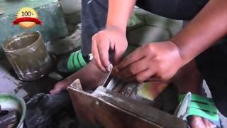 Cara Memotong Bahan Untuk Batu Akik