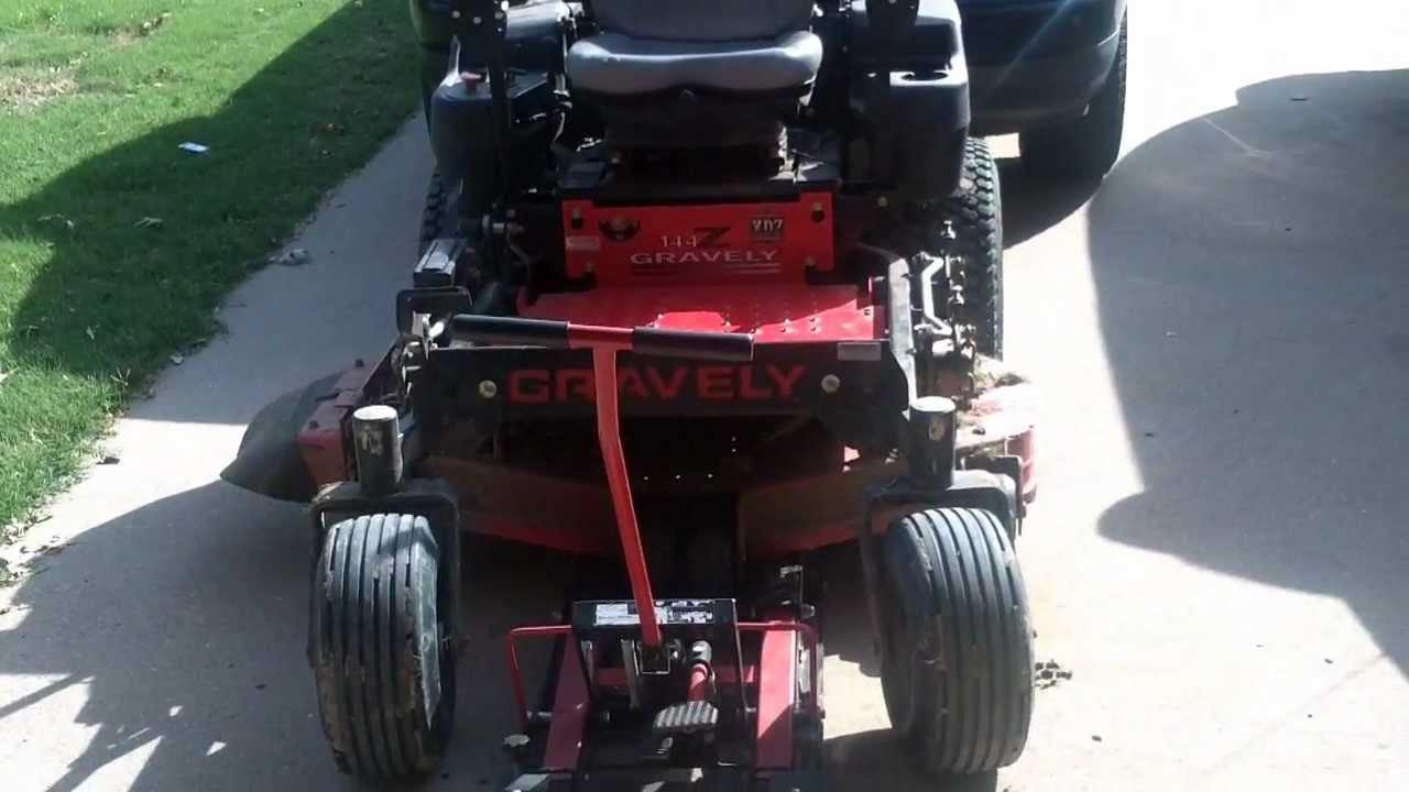 Gravely Zero Turn Mower Repair Leaves Grass Behind While Wiring Harness Cutting