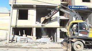 Снос фасада незаконно возведённого многоэтажного жилого здания