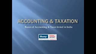 Introduction to Accounting & Taxation