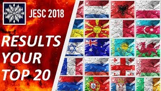 [RESULTS] YOUR JESC 2018 | 300 VOTES | TOP 20