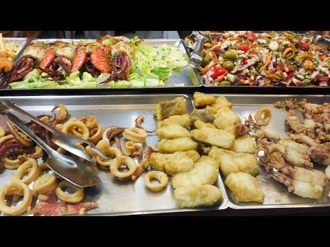 Sicily Street Food, Italy. The 'Vucciria' Market in Palermo