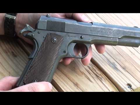 Colt Model of 1911 WW1 era service pistol .45 ACP