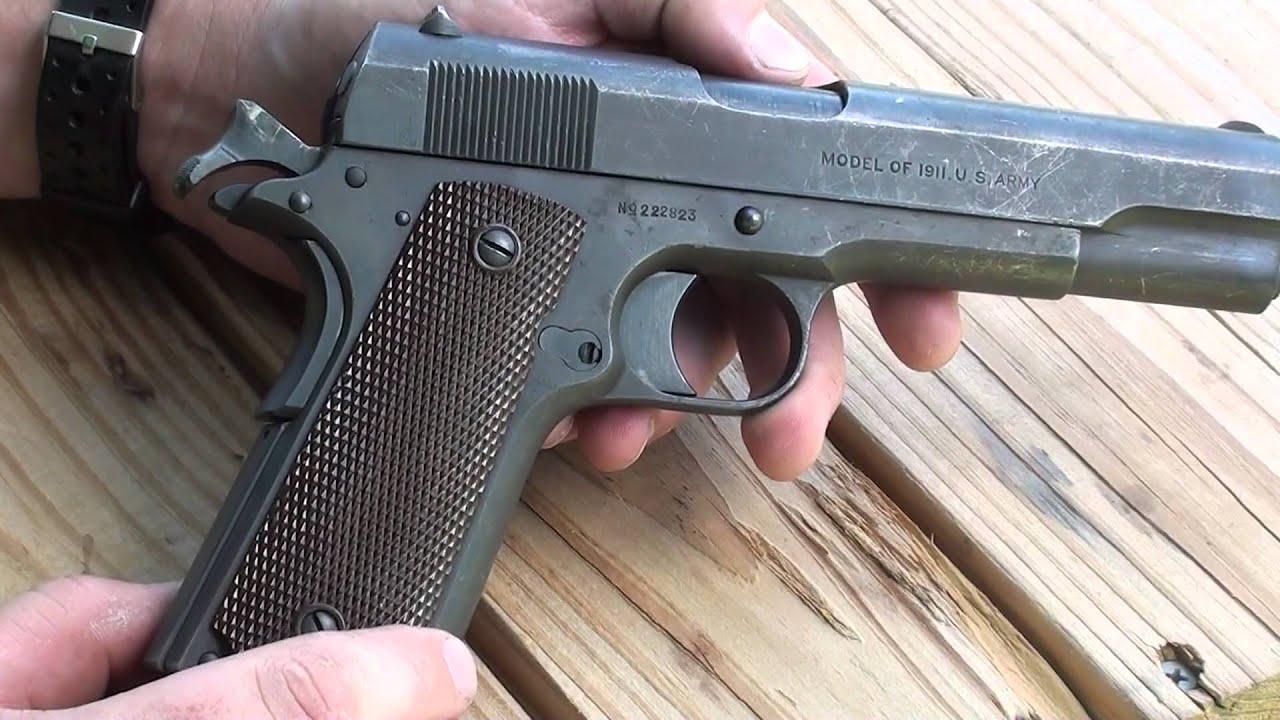 Colt Model of 1911 WW1 era service pistol .45 ACP - YouTube M1911 Pistol Ww1