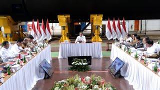 Presiden Jokowi Pimpin Ratas Kebijakan Pengembangan Alutsista, Surabaya, 27 Januari 2020