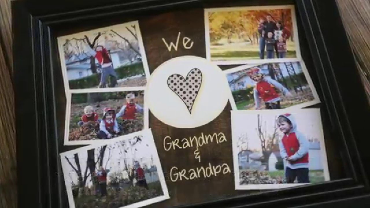 Easy Grandparents Collage Photo Gift Youtube