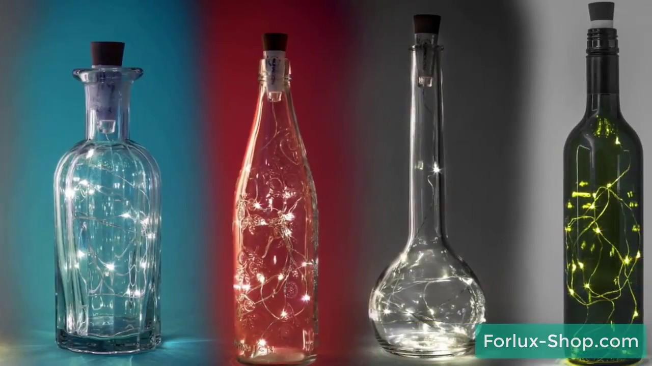 Led Flaschen Deko Lichter Youtube