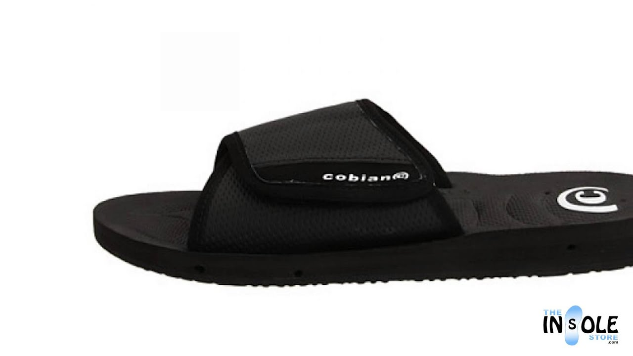 17fcab9b627 Cobian GTS Draino Sandal Slides for Men  TheInsoleStore.com - YouTube