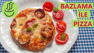 İKİ Dakikada Pizza - BAZLAMA Pizza - Evde Çok Kolay Karışık Pizza Tarifi