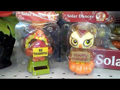 Fall - Thanksgiving themed solar dancers at Dollar General Store