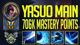 YASUO MONTAGE - MASTER KOREAN YASUO 706K MASTERY POINT - YASUO MAIN