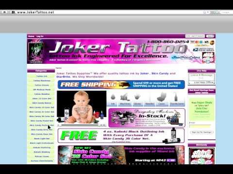 Tattoo-Supplies-Skin-Candy-Kuro-Sumi-Sun-StarBrite-Joker - YouTube
