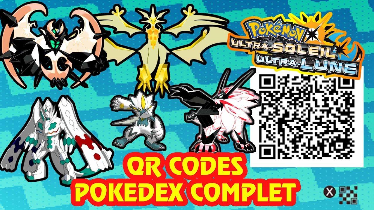 Tous Les Qr Codes Pokedex Complet Alola Pokemon Ultra Soleil Lune Sun Moon