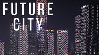 Amazing China City of the Future Light Show