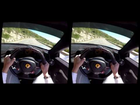 Driving in Virtual Reality Ferrari 488 GTB Spider VR expirience for Oculus Rift helmet 2017