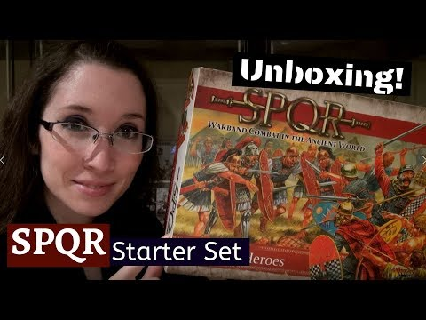 SPQR Starter Set A Clash Of Heroes Unboxing An Ancient Rome Skirmish Game