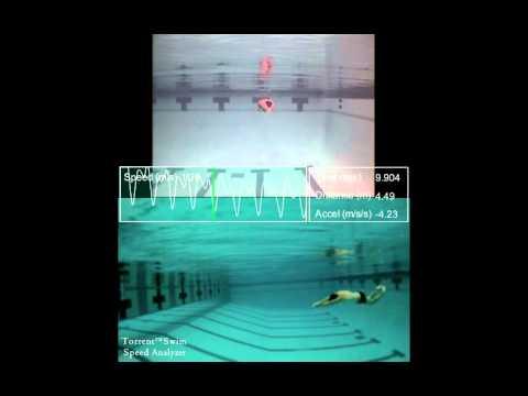 Underwater Dolphin Kick swim speed analysis