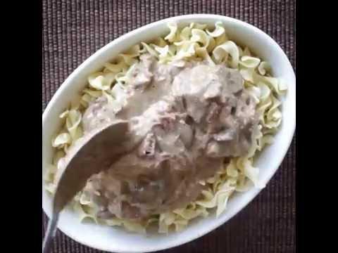 Crockpot Version Of A Classic: Easy Beef Stroganoff