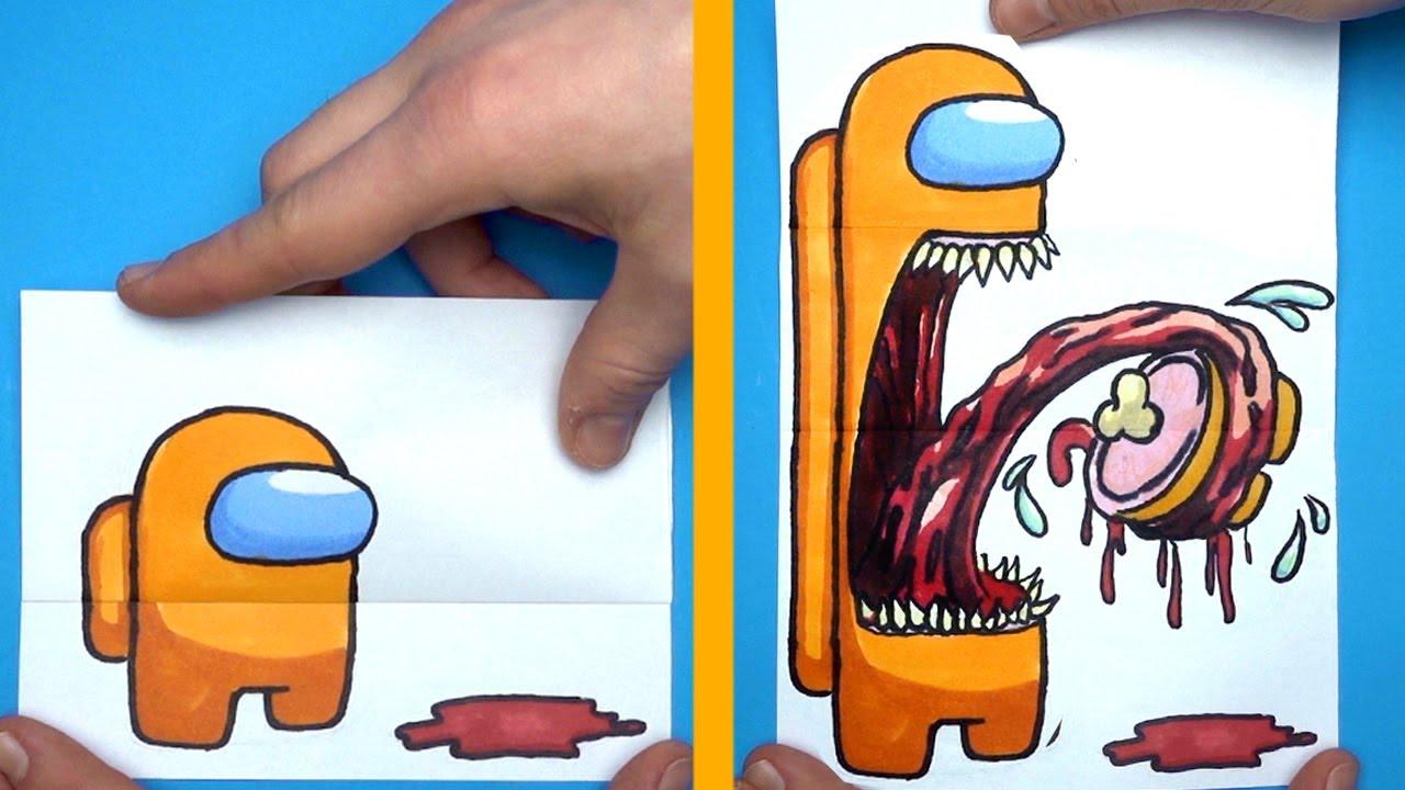 I'm Hungry - AMONG US IMPOSTOR ART & PAPER CRAFT