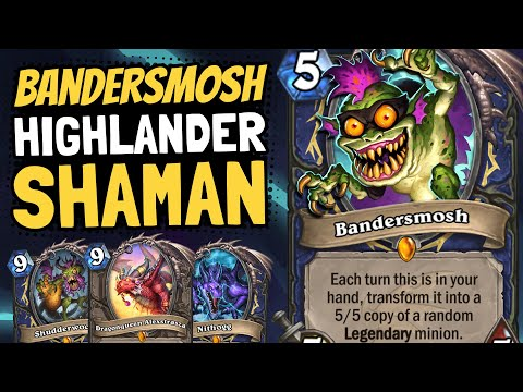BANDERSMOSH IS SO GOOD!! But How Is Highlander Shaman? | Descent Of Dragons | Hearthstone